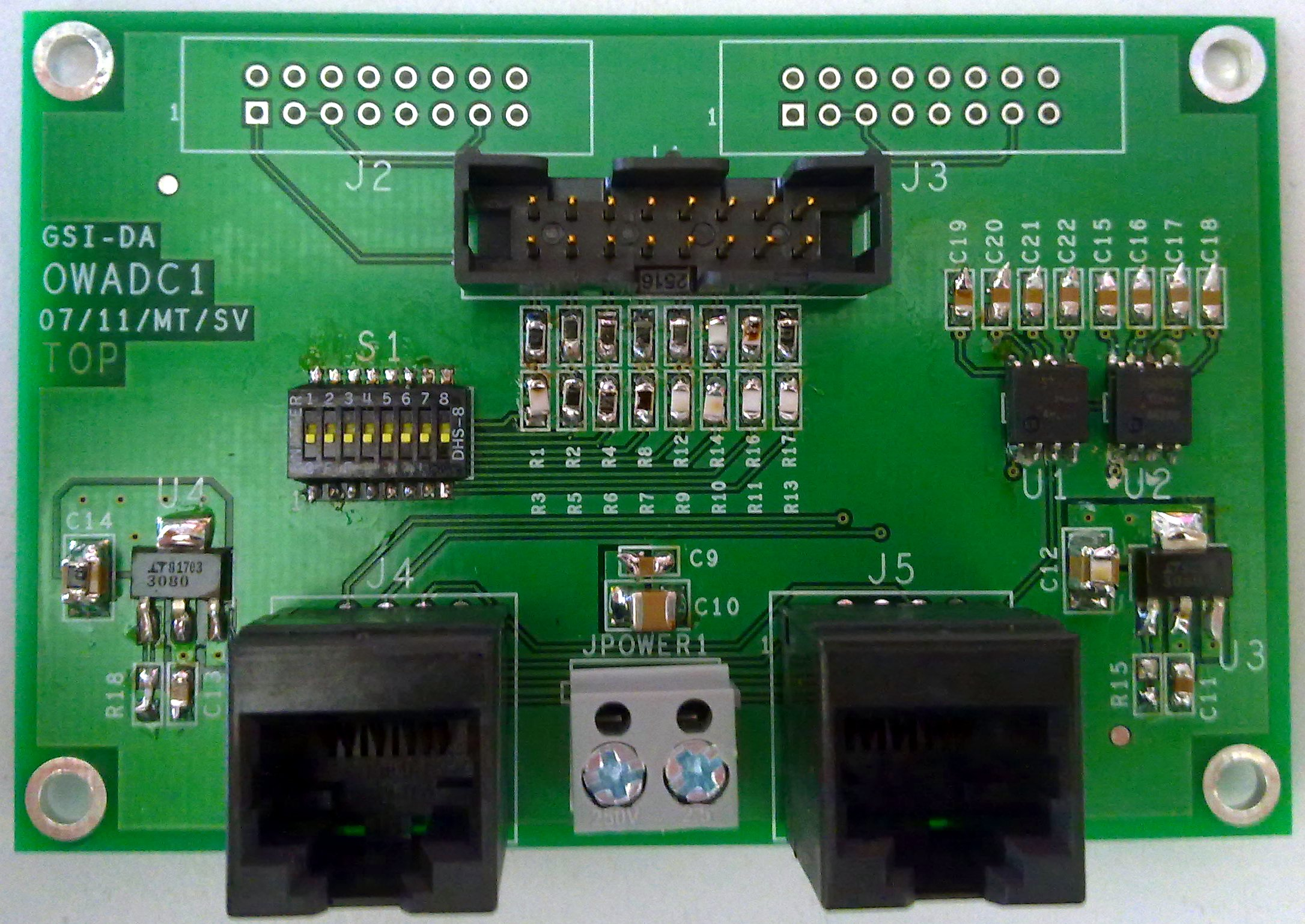 OWADC1 (w/o) connector J1/J2