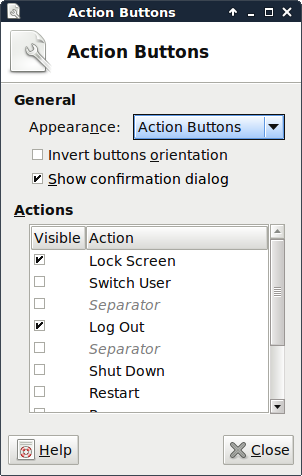 XFCE Action Button
